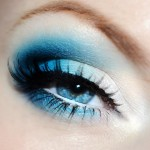 Blue eyeshadow- the boldly exotic look