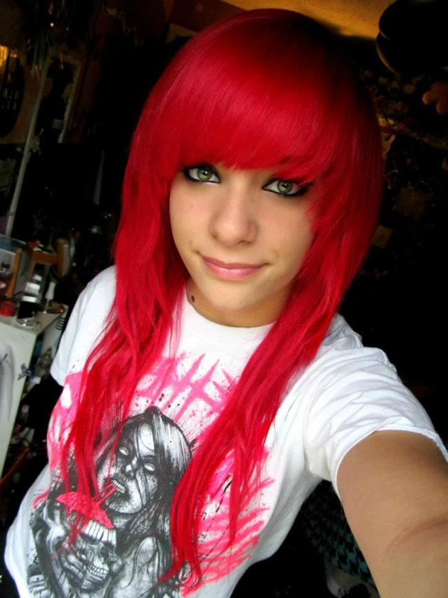 Dyed Red Hair
