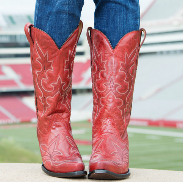 Awesome Pics For U0026gt; Red Cowboy Boots For Women | These Boots Are Made For Walking | Pinterest | Cowboys ...