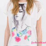 Print Short Sleeve Tops for Girls