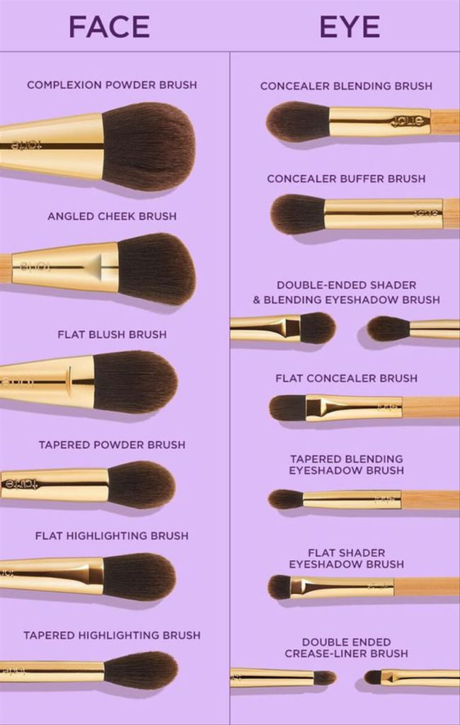 Uses of make up brushes
